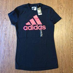 NWT black adidas tee